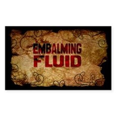 Embalming Fuid Wine Label Sticker