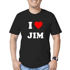 I Love Jim Mens Fitted Dark T-Shirt