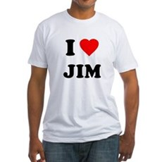 I Love Jim Fitted T-Shirt