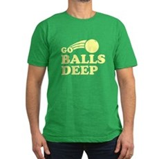 Go Balls Deep Mens Fitted Dark T-Shirt