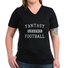 Fantasy Football Legend Womens V-Neck Dark T-Shir