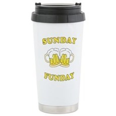 Sunday Funday Stainless Steel Travel Mug