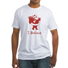 I Believe In Santa Fitted T-Shirt