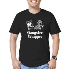 Gangster Wrapper Mens Fitted Dark T-Shirt