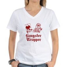 Gangster Wrapper Womens V-Neck T-Shirt