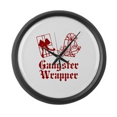 Gangster Wrapper Large Wall Clock