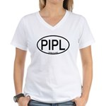 PIPL Piping Plover Alpha Code Women's V-Neck T-Shi