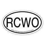 RCWO Red-cockaded Woodpecker Oval Sticker