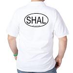 SHAL Shy Albatross Alpha Code Golf Shirt