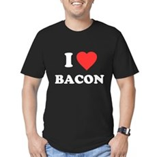 I Love Bacon Mens Fitted Dark T-Shirt