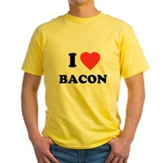 I Love Bacon Yellow T-Shirt