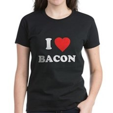 I Love Bacon Womens T-Shirt