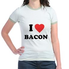 I Love Bacon Jr Ringer T-Shirt