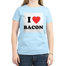 I Love Bacon Womens Light T-Shirt