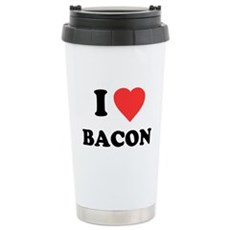 I Love Bacon Stainless Steel Travel Mug