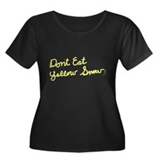 Don't Eat Yellow Snow Womens Plus Size Scoop Neck
