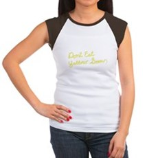 Don't Eat Yellow Snow Womens Cap Sleeve T-Shirt