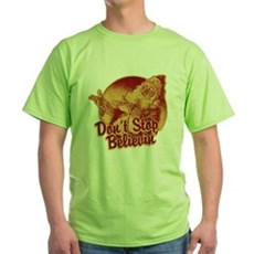 Don't Stop Believing in Santa Green T-Shirt