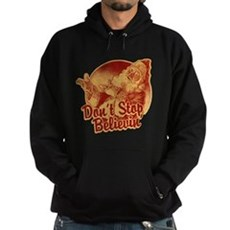 Don't Stop Believing in Santa Dark Hoodie