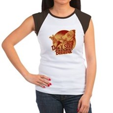 Don't Stop Believing in Santa Womens Cap Sleeve T