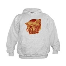 Don't Stop Believing in Santa Kids Hoodie