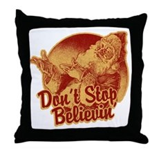 Don't Stop Believing in Santa Throw Pillow