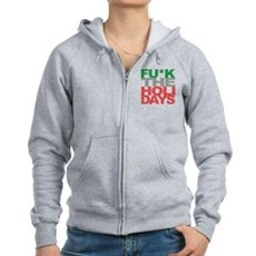 Fu*k The Holidays Womens Zip Hoodie