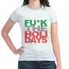 Fu*k The Holidays Jr Ringer T-Shirt