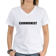 Communist Womens V-Neck T-Shirt