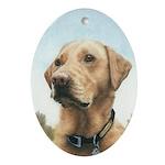 Labrador Oval Ornament