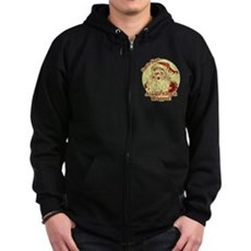 Always Keep It Wrapped Zip Dark Hoodie