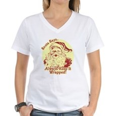 Always Keep It Wrapped Womens V-Neck T-Shirt