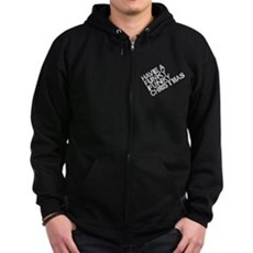 Have a Funky Funky Christmas Zip Dark Hoodie