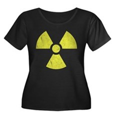 Radioactive Womens Plus Size Scoop Neck Dark T-Sh