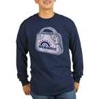 Flight 815 Lost Luggage Long Sleeve Dark T-Shirt