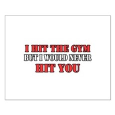 I Hit The Gym Small Poster