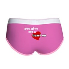 You give me a heart on Womens Boy Brief