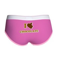 I Love [Heart] Chocolate Womens Boy Brief