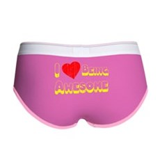 I Love [Heart] Being Awesome Womens Boy Brief