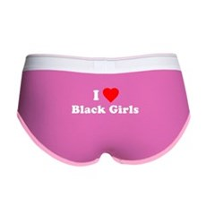 I Love [Heart] Black Girls Womens Boy Brief