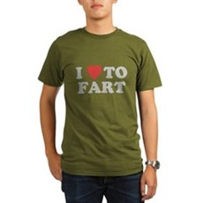 I Love To Fart Organic Mens Dark T-Shirt