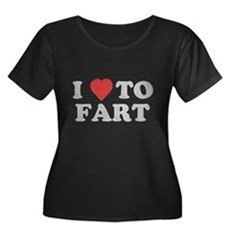 I Love To Fart Womens Plus Size Scoop Neck Dark T