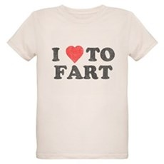 I Love To Fart Organic Kids T-Shirt