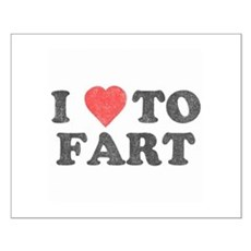 I Love To Fart Small Poster