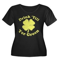 Drink 'Till Yer Green Womens Plus Size Scoop Neck