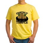 PROTECT the TEMPLE Yellow T-Shirt