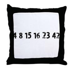4 8 15 16 23 42 Lost Throw Pillow