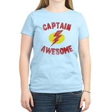 Captain Awesome Womens Light T-Shirt