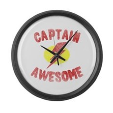 Captain Awesome Large Wall Clock