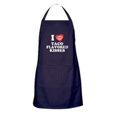 Taco Flavored Kisses Apron (dark)
